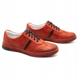 Joker Men's leather casual shoes S21 / 2 red 4