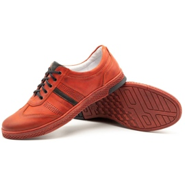 Joker Men's leather casual shoes S21 / 2 red 5