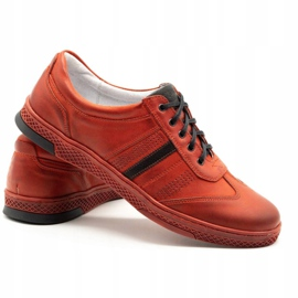 Joker Men's leather casual shoes S21 / 2 red 6