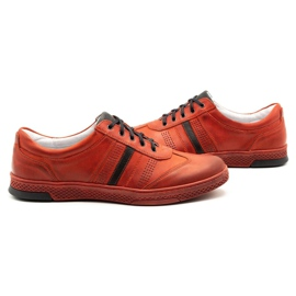 Joker Men's leather casual shoes S21 / 2 red 7