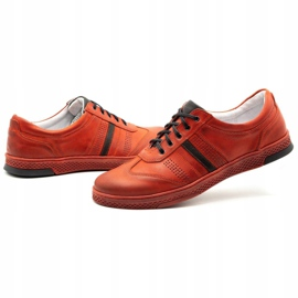 Joker Men's leather casual shoes S21 / 2 red 8