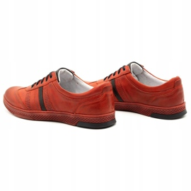 Joker Men's leather casual shoes S21 / 2 red 9