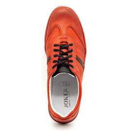 Joker Men's leather casual shoes S21 / 2 red 10