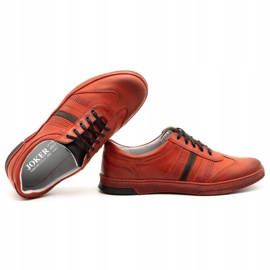 Joker Men's leather casual shoes S21 / 2 red 2