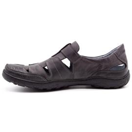 Polbut Men's openwork 260 gray summer shoes grey 1