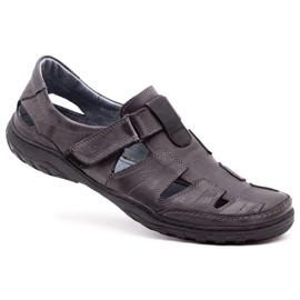 Polbut Men's openwork 260 gray summer shoes grey 2