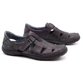 Polbut Men's openwork 260 gray summer shoes grey 3