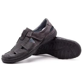 Polbut Men's openwork 260 gray summer shoes grey 4