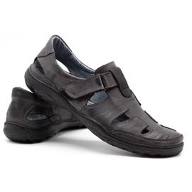 Polbut Men's openwork 260 gray summer shoes grey 5