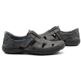 Polbut Men's openwork 260 gray summer shoes grey 6