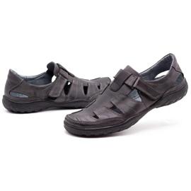 Polbut Men's openwork 260 gray summer shoes grey 7