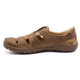Polbut Men's openwork 260 shoes for summer, brown 2