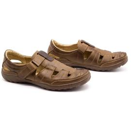 Polbut Men's openwork 260 shoes for summer, brown 3