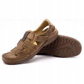 Polbut Men's openwork 260 shoes for summer, brown 4