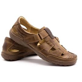 Polbut Men's openwork 260 shoes for summer, brown 5