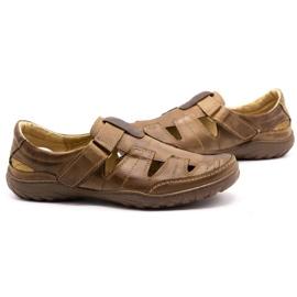 Polbut Men's openwork 260 shoes for summer, brown 6