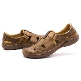 Polbut Men's openwork 260 shoes for summer, brown 7