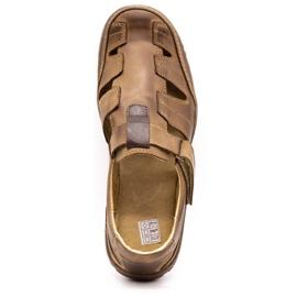 Polbut Men's openwork 260 shoes for summer, brown 9