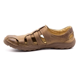 Polbut Men's openwork shoes 237 for summer brown 6
