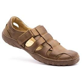 Polbut Men's openwork shoes 237 for summer brown 4