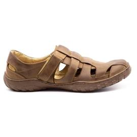 Polbut Men's openwork shoes 237 for summer brown 5