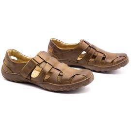 Polbut Men's openwork shoes 237 for summer brown 7