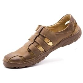 Polbut Men's openwork shoes 237 for summer brown 8