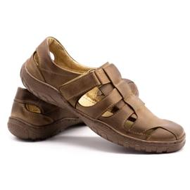 Polbut Men's openwork shoes 237 for summer brown 9