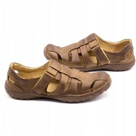 Polbut Men's openwork shoes 237 for summer brown 10