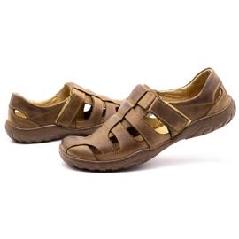 Polbut Men's openwork shoes 237 for summer brown 11
