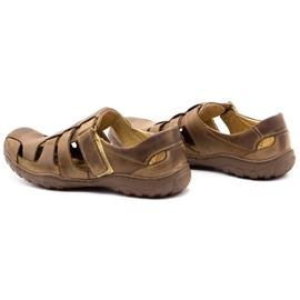 Polbut Men's openwork shoes 237 for summer brown 1