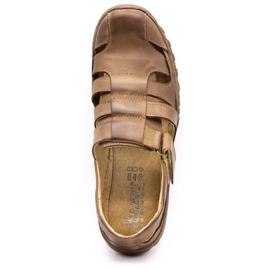 Polbut Men's openwork shoes 237 for summer brown 2