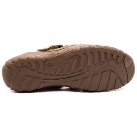Polbut Men's openwork shoes 237 for summer brown 3