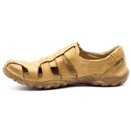 Polbut Men's openwork shoes 237 for summer beige 5