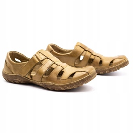 Polbut Men's openwork shoes 237 for summer beige 7