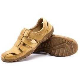 Polbut Men's openwork shoes 237 for summer beige 8