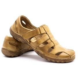 Polbut Men's openwork shoes 237 for summer beige 9