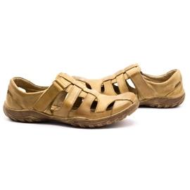 Polbut Men's openwork shoes 237 for summer beige 10