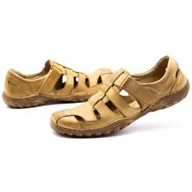 Polbut Men's openwork shoes 237 for summer beige 11
