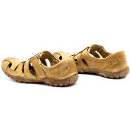 Polbut Men's openwork shoes 237 for summer beige 1