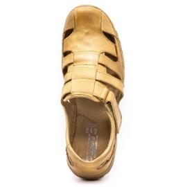 Polbut Men's openwork shoes 237 for summer beige 2