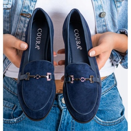 Coura Moccasins With Ornament navy 3
