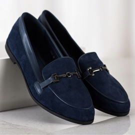 Coura Moccasins With Ornament navy 2