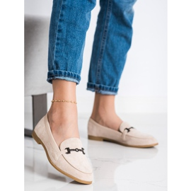Coura Moccasins With Ornament beige 1