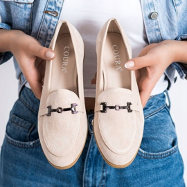 Coura Moccasins With Ornament beige 3