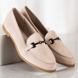 Coura Moccasins With Ornament beige 2