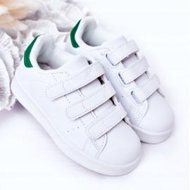 FRROCK Youth Sport Footwear With Velcro White Fifi green 6