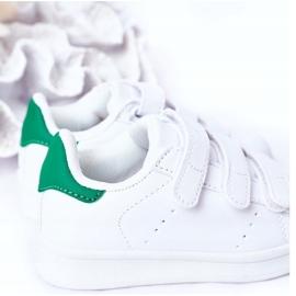 FRROCK Youth Sport Footwear With Velcro White Fifi green 8