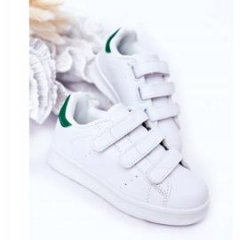 FRROCK Youth Sport Footwear With Velcro White Fifi green 5