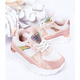 Children's Sport Shoes Sneakers Pink Game Time white 4